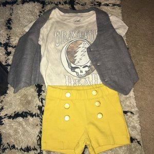 12month Grateful Dead 3 piece outfit NEW!!🤘🏻🎼😎